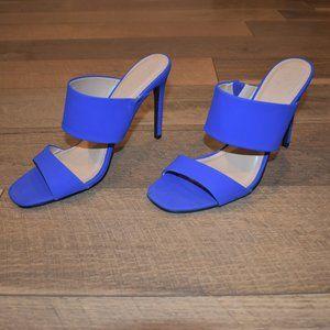 Charlotte Russe NWOT Blue Sandal Heels